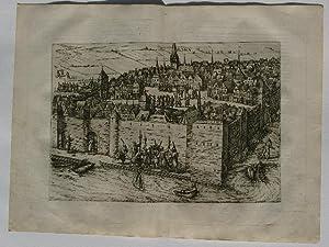 Kupferstich von Franz Hogenberg aus: Novus de: Gesamtansicht der Stadt