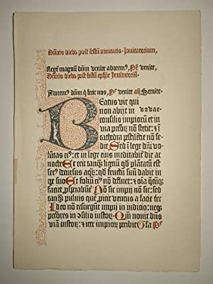 Psalterium cum canticis. Zwei Faksimile-Blätter (GWM 36179