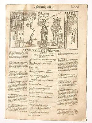 Opera. Carminum Liber Tertius. Blatt LXXI. Comm: Quintus Horatius Flaccus