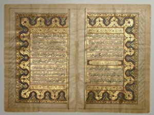 Doppelblatt aus dem Heiligen Koran.
