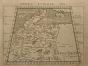 Tabula Europae IIII, Blatt 5. Aus: Geographiiae: Claudius Ptolemaeus; Giovanni