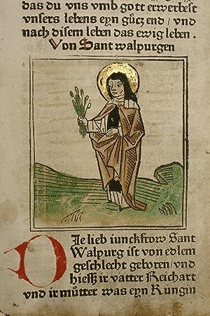 Legenda aurea, deutsch (GWM 11402, HC 9968).: Jacobus de Voragine: