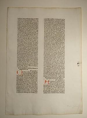 Pantheologia. (GWM 36921, H 13016). Blatt aus: Rainerius de Pisis: