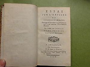 Essai sur l'origine des connoissances humaines ouvrage: Etienne Bonnot de
