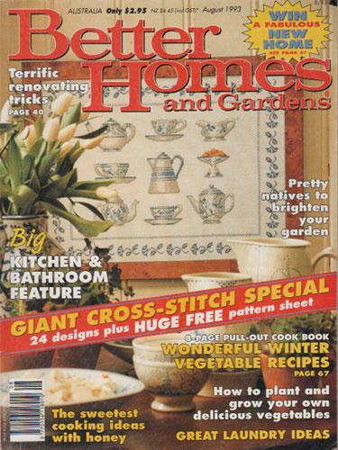 Better Homes And Gardens August 1993 Giant Cross Stitch