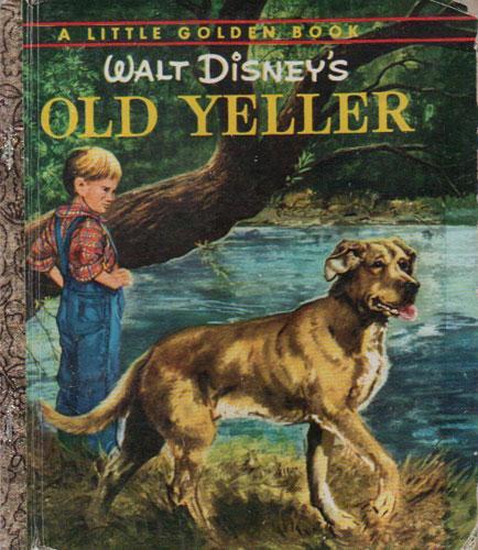 Old Yeller Book Cover : Old yeller by walt disney golden press australia hard