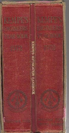 KEMPE'S ENGINEERS YEAR-BOOK 1972. In 2 Volumes: C.E. Prockter. Editor.