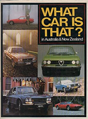 WHAT CAR IS THAT? In Australia & New Zealand.: David Boyce. Editor.