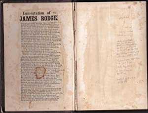 LAMENTATION OF JAMES RODGERS [broadside ballad tipped into] The Life, Labors, and Travels of Elde...
