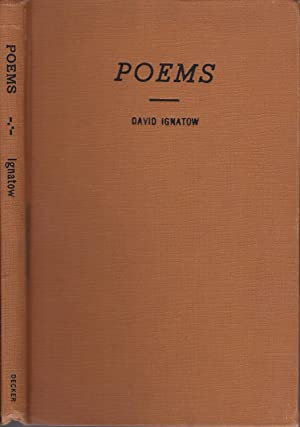 Poems [inscribed to Edward Dahlberg]