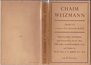 Chaim Weizmann: A Tribute on his Seventieth Birthday [complimentary copy]