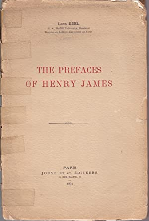 The Prefaces of Henry James [inscribed with a.c.s.]