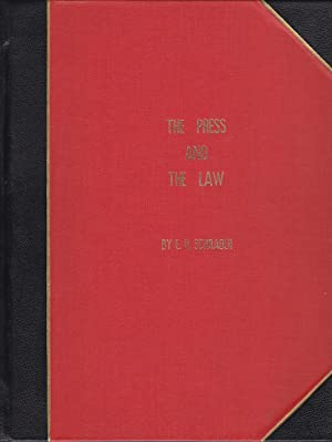 The Press and the Law [inscribed]