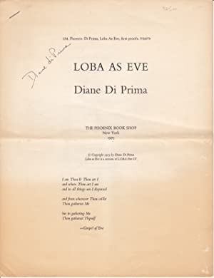 LOBA AS EVE | Diane Di Prima [first proofs]