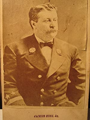 ANTIQUE BIG DIAMOND JIM ROBBER BARON WALL ST STOCK CIVIL WAR BUSINESS CDV PHOTO