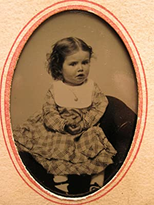ANTIQUE BABY GIRL DARLING ANGEL CHILD AMERICAN BEAUTY CUTEY PIE TINTYPE PHOTO