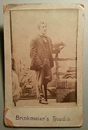 ANTIQUE POST CIVIL WAR AMPUTEE? BRINKMEIER LEWIS WV OR OH CABINET CARD PHOTO