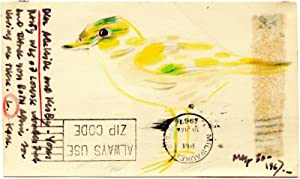 VINTAGE 1967 KARL PRIEBE SHOREBIRD FINE ART LAKE MI ABRAHAM LINCOLN POSTCARD WI