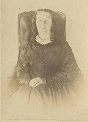 ANTIQUE VICTORIAN AMERICAN ARTISTIC MOURNING SALEM NY MYSTERIOUS CDV PHOTO
