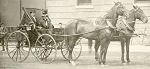 ANTIQUE ARTISTIC COUTURE PHOTO HORSE CARRIAGE MINNEAPOLIS MN RIVERSIDE AVE DORGE