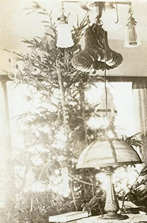 ARTISTIC ANTIQUE TIFFANY STYLE TABLE LAMP HIDDEN ANGELS FINE CHRISTMAS OLD PHOTO
