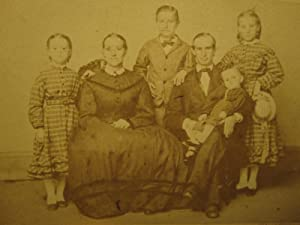 VICTORIAN CHICAGO IL FAMILY COLUMBUS PARK RARE LARGE FAMILY CDV FAMOUS ? PHOTO
