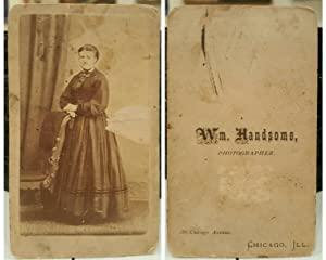 ANTIQUE VICTORIAN MR. HANDSOME CHICAGO IL WILLIAM CIVIL WAR ERA DRESS CDV PHOTO