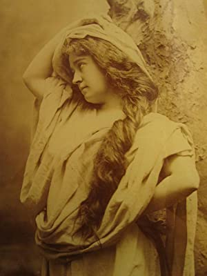 ANTIQUE AMERICAN ARTISTIC LONG HAIRED BEAUTY LISTED CAMPBELL ELIZABETH NJ PHOTO