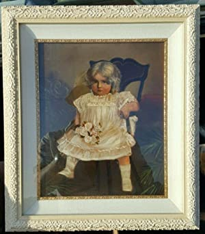 ANTIQUE AMERICAN GIRL BLONDE ANGEL OIL ON CANVAS PAINTING AMERICANA FL ORIGIN