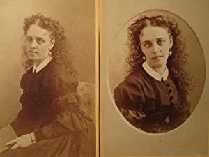 AMERICAN BEAUTY POST CIVIL WAR KALAMAZOO BINGHAM RELIGIOUS EARRINGS CDV PHOTOS