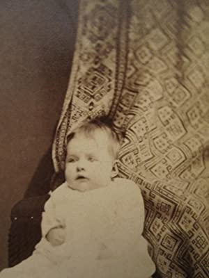 ANTIQUE VINTAGE PROBABLE POST MORTEM BABY TEXTILE DRAPE CHICAGO IL OLD CDV PHOTO