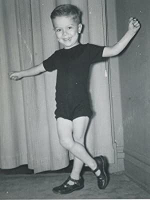 VINTAGE DANCING LITTLE BOY TINY DANCER TAP SHOE MOVES TWIRLING LEGS OLD PHOTO