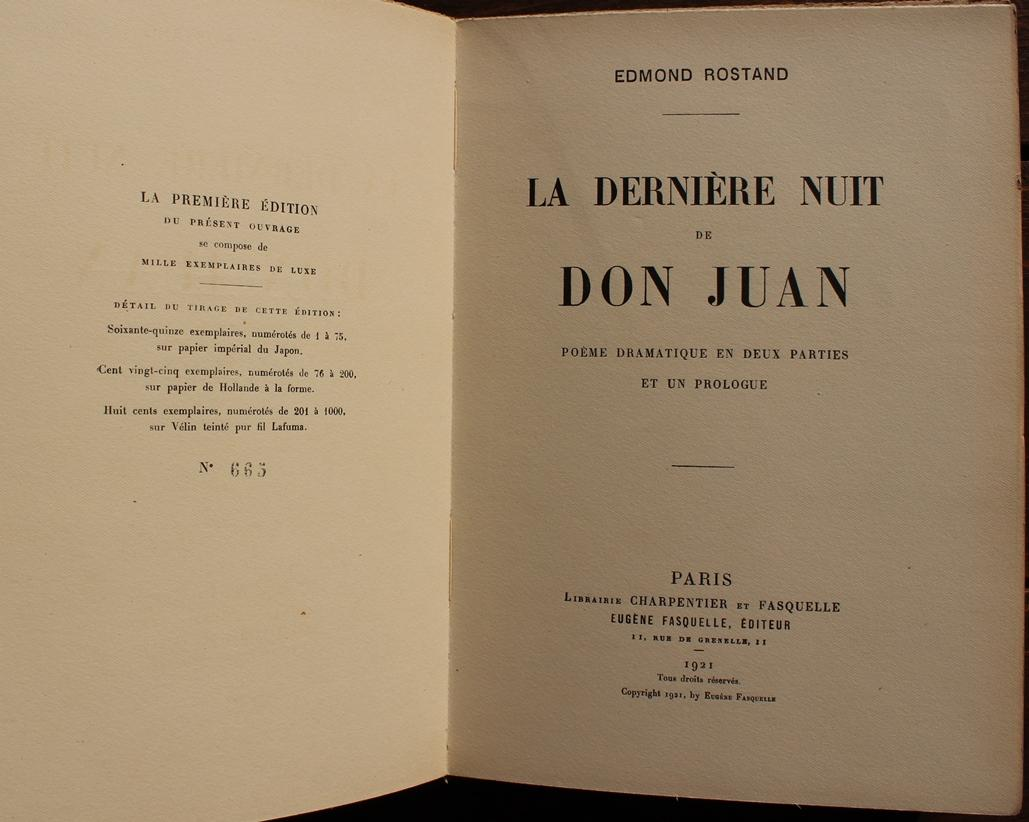 La Dernière Nuit De Don Juan Poème