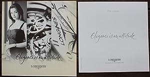 Elegance is an attitude.Longines.Catalogue pour les montres: Catalogue pour les