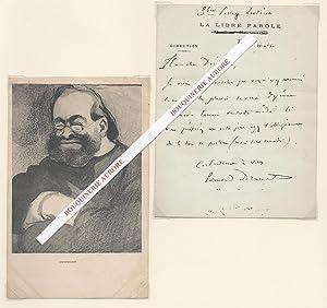 Lettre autographe signée d'Edouard Drumont (1844-1917).: Edouard DRUMONT (1844-1917) - ...