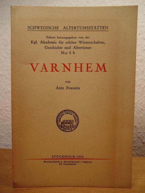 Schwedische Altertumsstätten Führer No. 8 b: Varnhem: Forssen, Axel -