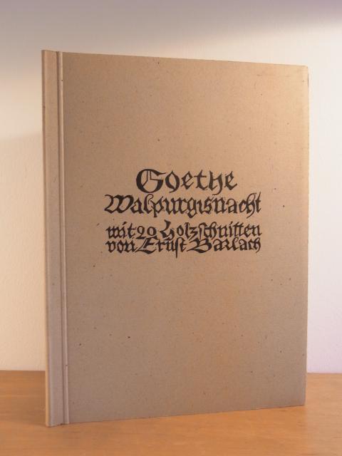 Walpurgisnacht. Mit 20 Holzschnitten von Ernst Barlach: Barlach, Ernst und