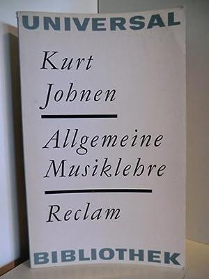 Allgemeine Musiklehre: Johnen, Kurt