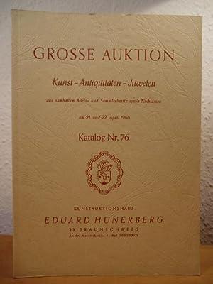 Grosse Auktion: Kunst - Antiquitäten - Juwelen: Kunstauktionshaus Eduard Hünerberg