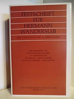 Festschrift für Hermann Wandersleb zur Vollendung des: Herausgegeben von Victor-Emanuel