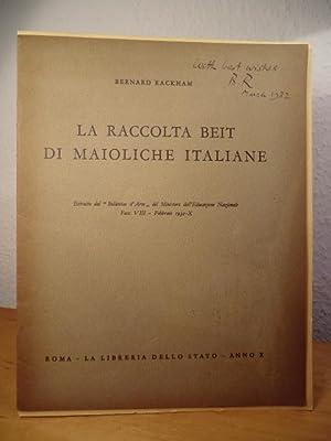 La Raccolta Beit di Maioliche italiane: Rackham, Bernard