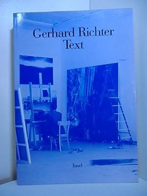 Text. Schriften und Interviews: Richter, Gerhard -