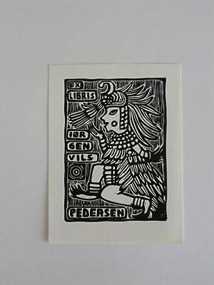 Exlibris Jørgen Vils Pedersen. Motiv: Antiker Krieger: Andrusko, Karoly: