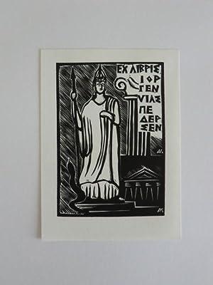 Exlibris Jørgen Vils Pedersen. Motiv: Antike griechische: Andrusko, Karoly: