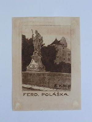 Exlibris für Ferd. Polaska. Motiv: Heiligenstaute vor: Unbekannter Künstler: