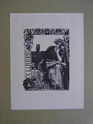 Exlibris für O. Sitte. Motiv: Lesende mit: Keller-Reutlingen, Paul Wilhelm: