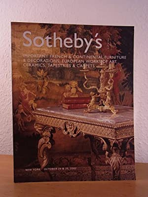 Important French and Continental Furniture & Decorations,: Sotheby's: