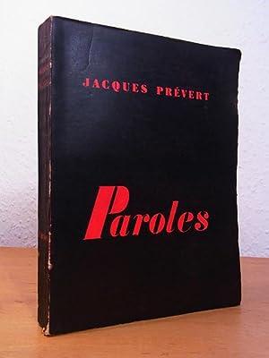 Prevert Paroles Edition Revue Augmentée Abebooks