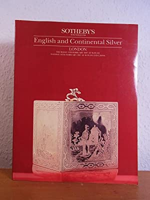English and Continental Silver. Auction at Sotheby's London, 5th and 10th February 1987