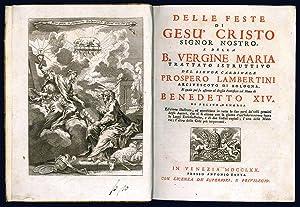 Delle feste di Gesù Cristo signor nostro: LAMBERTINI, Prospero (Papa
